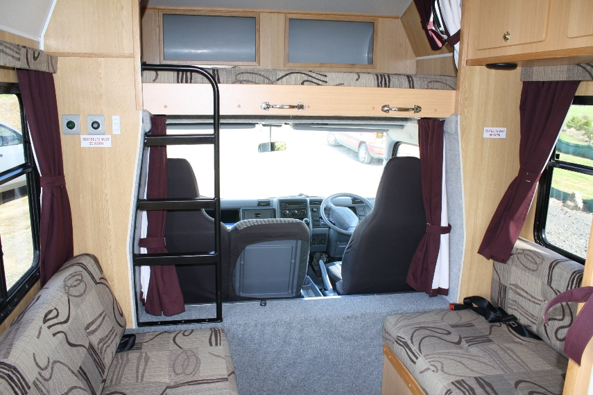 6 Berth Campervan hire New Zealand 7 berth motorhome hire luxury 7